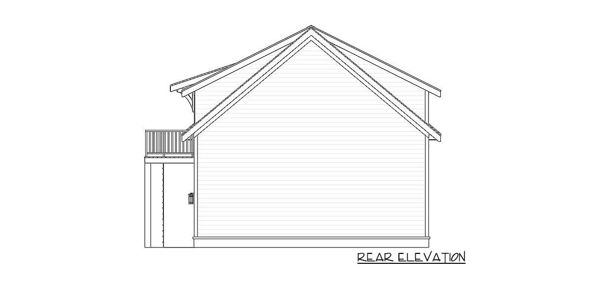 1 Bedroom Two Story Carriage Home with Open Living Area Floor Plan
