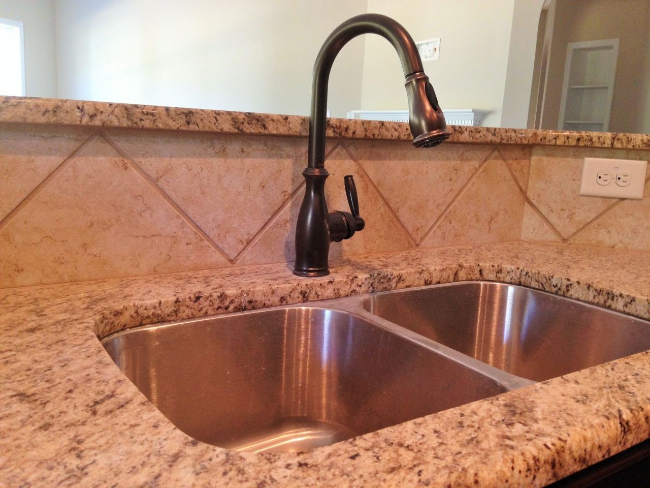 Granite Countertops With Tile Backsplash Installing Granite Countertops Granite Countertops Granite Tile Countertops