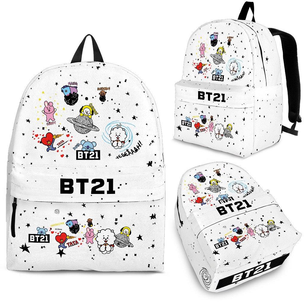 BT21 Canvas Backpack | Mochila kpop, Bolsos escolares y Mochilas