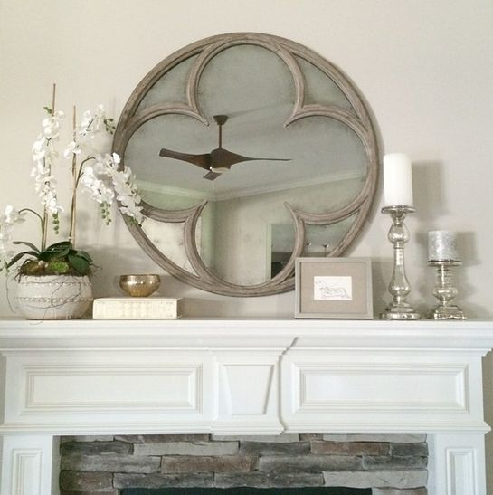 Restoration Hardware Quatrefoil Mirror For The Living Room Fireplace Mantle Decor Mirror Wall Living Room Fireplace Mantel Decor