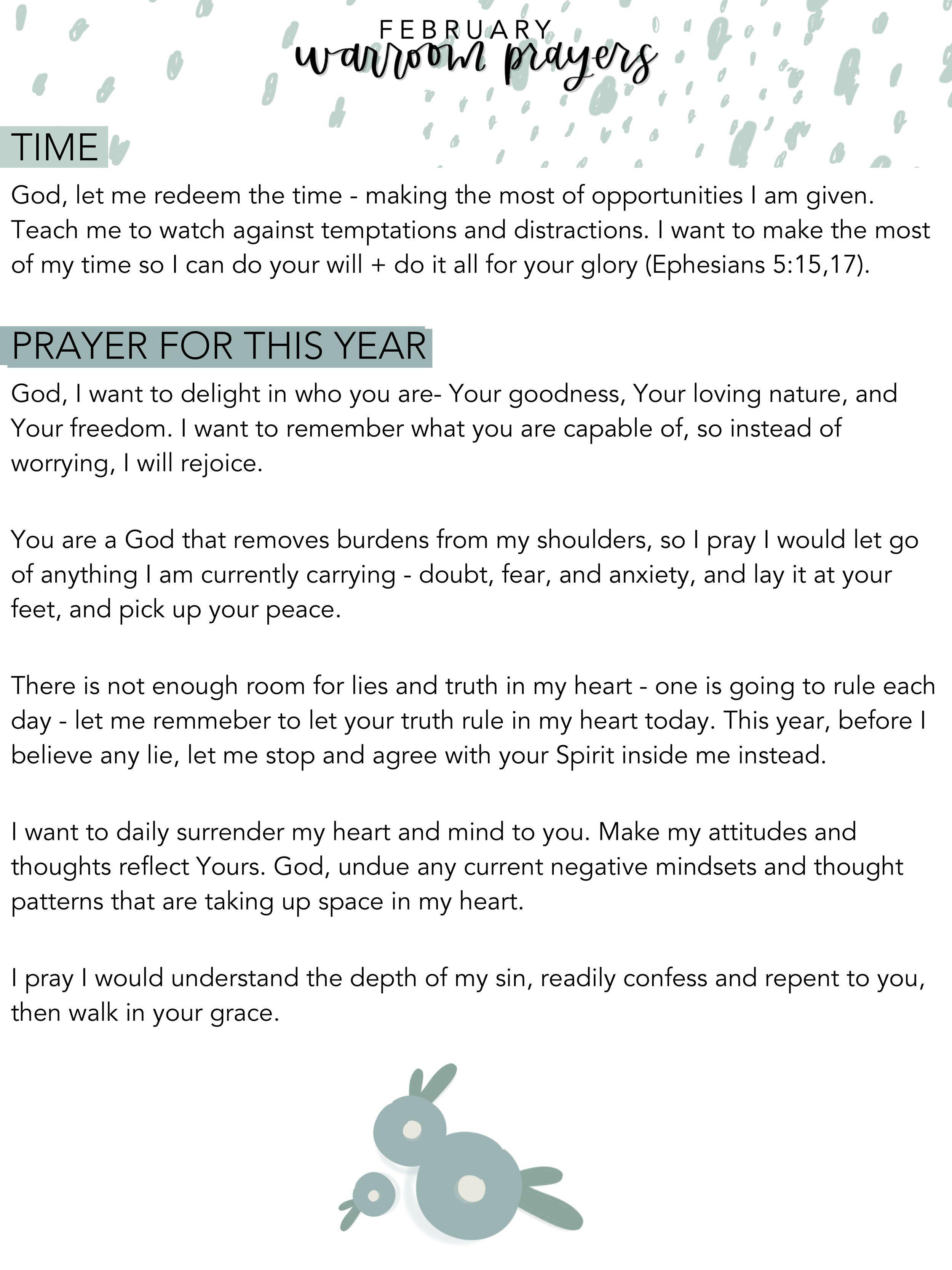 February Warroom Prayers Find Wondrous Things Prayers Prayer Times Redeeming The Time