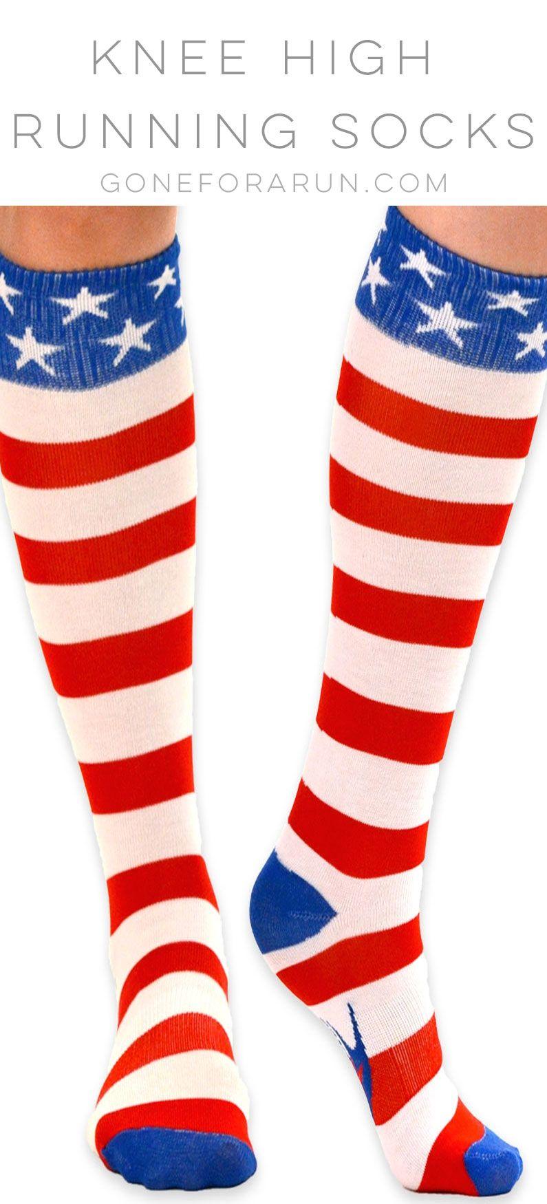 Knee Socks | Striped socks, Running