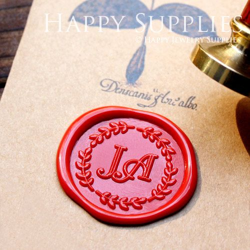 1pcs Custom Initial Gold Plated Wax Seal Stamp (WS140)