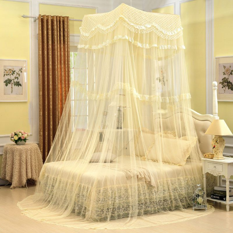 Furniture Diy All Cream Color Tone Girls Bed Canopy Netting Diy Creamedu2026 & Furniture Diy All Cream Color Tone Girls Bed Canopy Netting Diy ...
