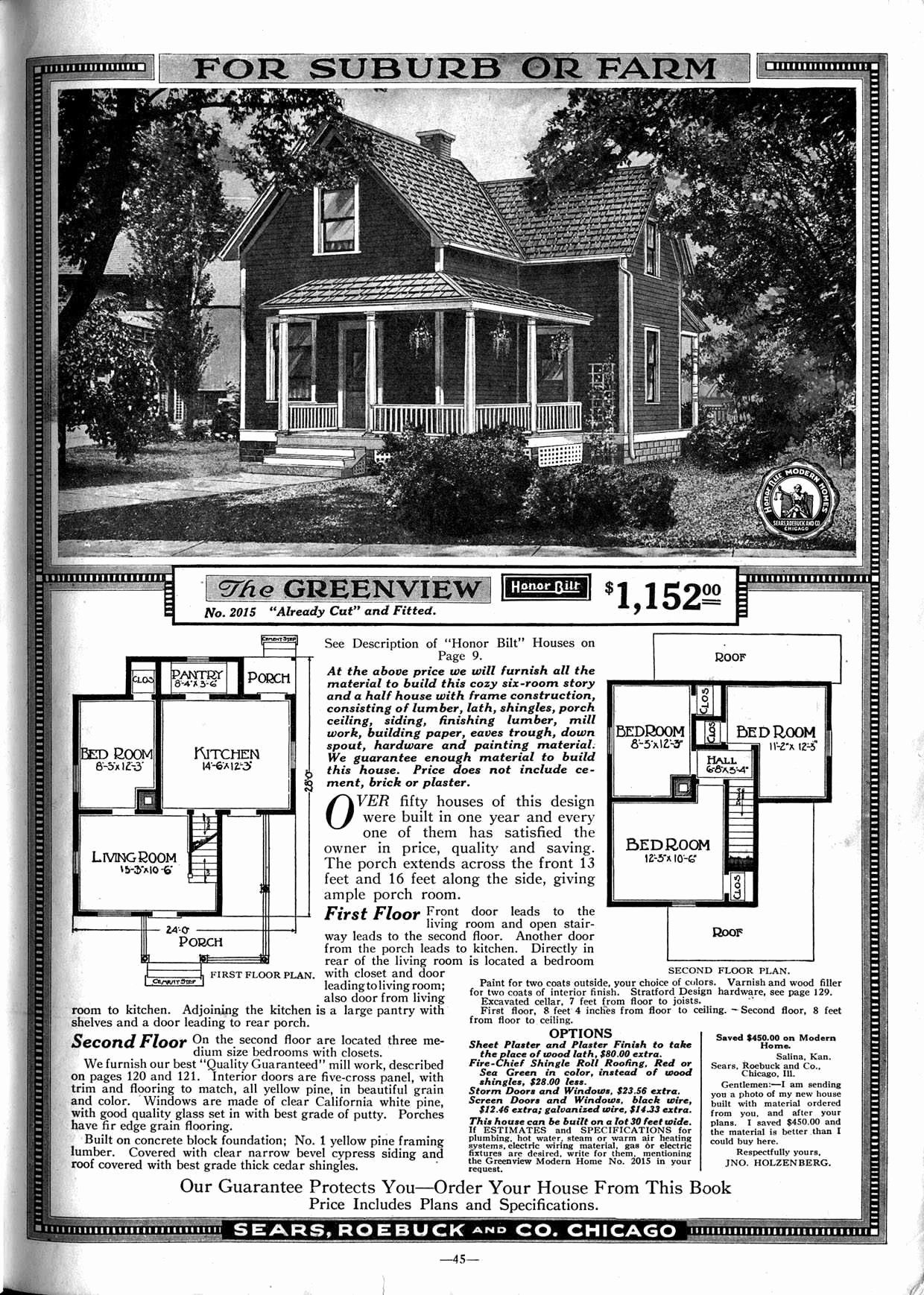 1900 Sears House Plans Awesome Another Old Time Charmer Why Don T Builders Make Homes Like In 2020 Craftsman House Plans Farmhouse Floor Plans Floor Plans