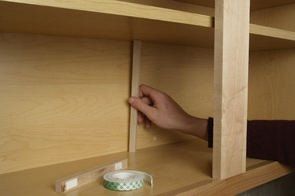 Stabilize A Sagging Kitchen Cabinet Shelf This Is Easy I Can Do This Kitchen Cabinet Shelves Closet Units Closet Shelves