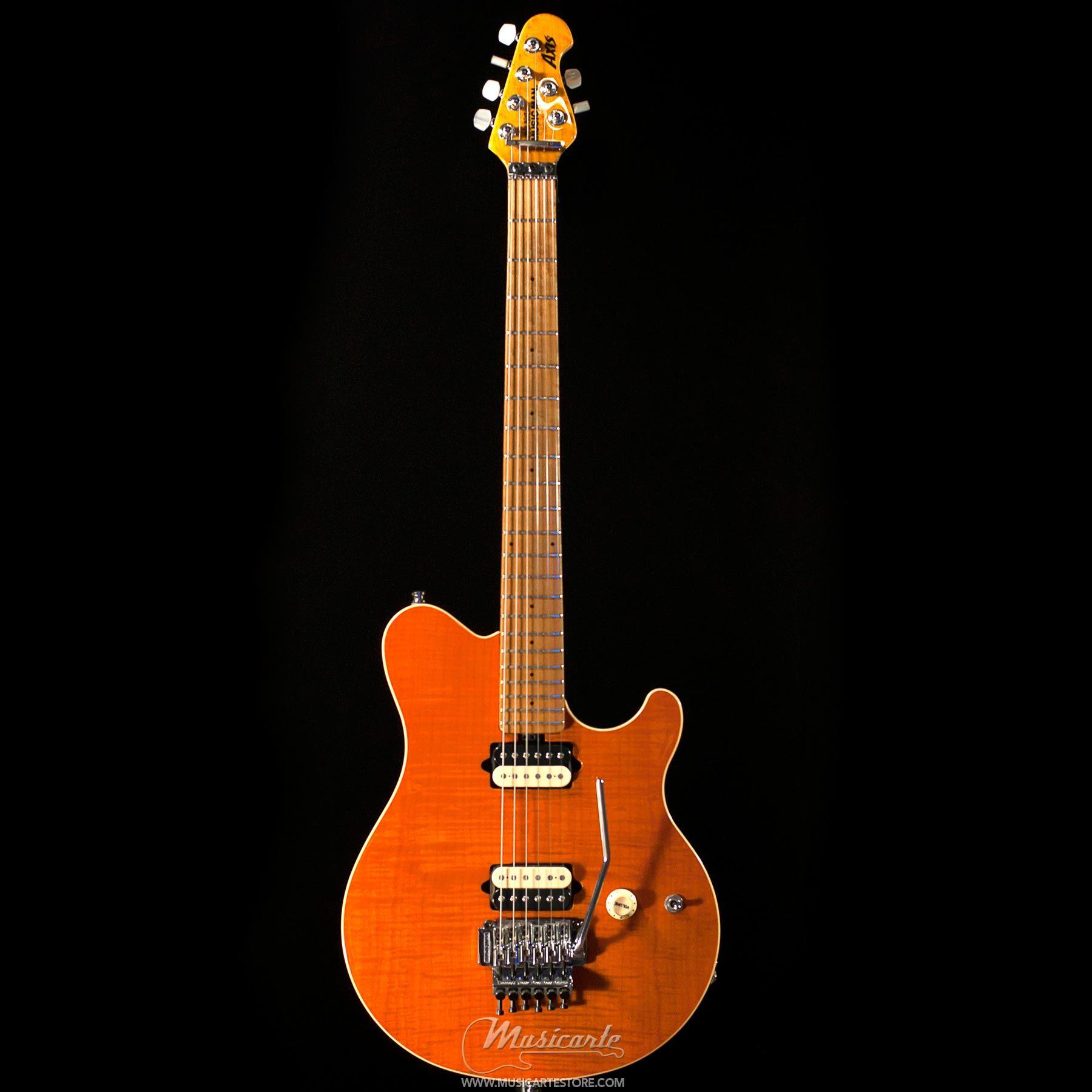 Music Man Axis Traslucent Gold Matching Headstock Chitarra Elettrica - Musicarte strumenti musicali