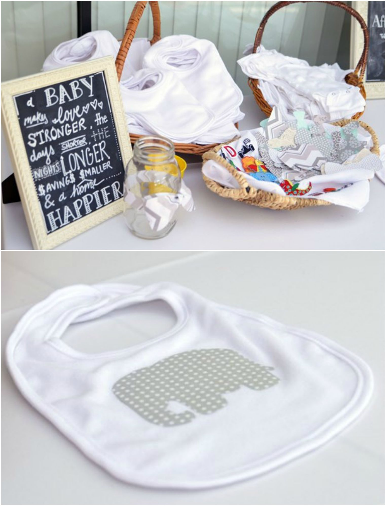 Decorate Baby Bibs Make A Bib At A Baby Shower With Iron On Transfers Baby Shower