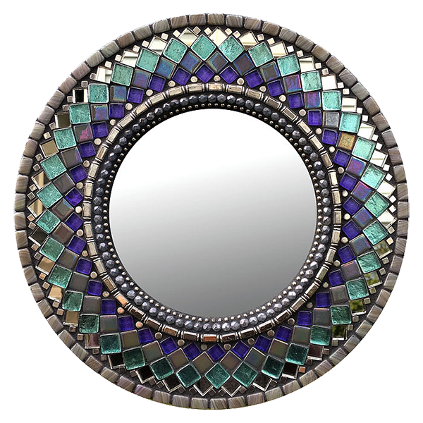 Morning Lace Handmade 10 Inch Mosaic Mirror With Images Mirror Mosaic Mosaic Mirror Glass Mosaic Art