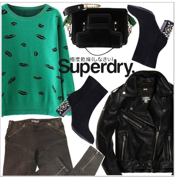 The Cover Up – Jackets by Superdry: Contest Entry by teoecar on Polyvore featuring moda, McQ by Alexander McQueen, Superdry and zaful