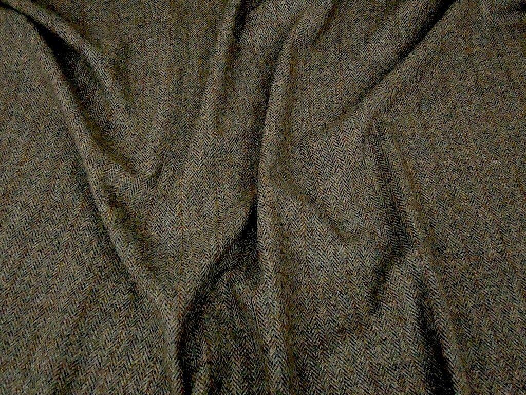 Harris Tweed C001YM Handmade 100% Wool Curtain Upholstery Fabric Ruffled