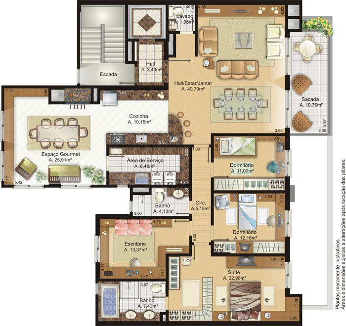 Apartamento De Cobertura Planta Baixa Pesquisa Google Design