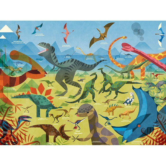 All about Dinosaurs Canvas Art