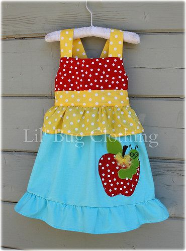 Custom Boutique Clothing Back To School Worm by LilBugsClothing