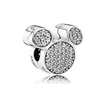 b8e83973b Charms 134299: Authentic Pandora Silver~Disney Park Exclusive Sparkling Mickey  Ears Clip Bead -> BUY IT NOW ONLY: $33.99 on eBay!