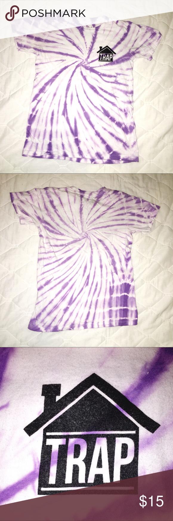 Purple And White Tiedye Women S Small T Shirt Purple Tie Dye Women