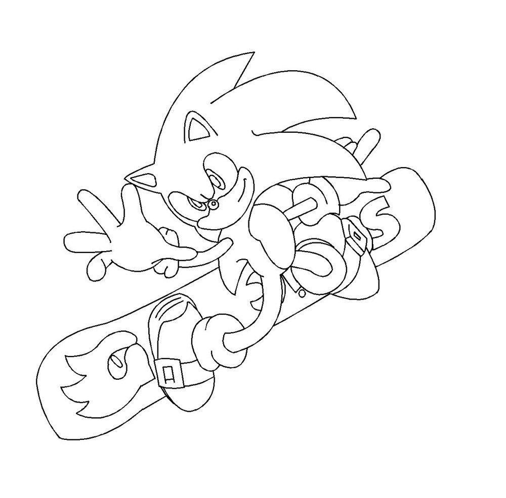 Coloriage Sonic  colorier Dessin  imprimer