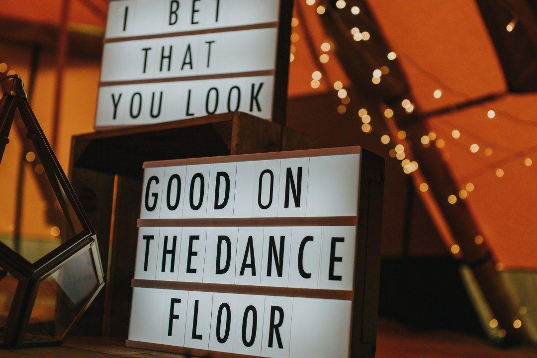 Tipi Styling Industrial Meets Botanical Dance Floor Wedding