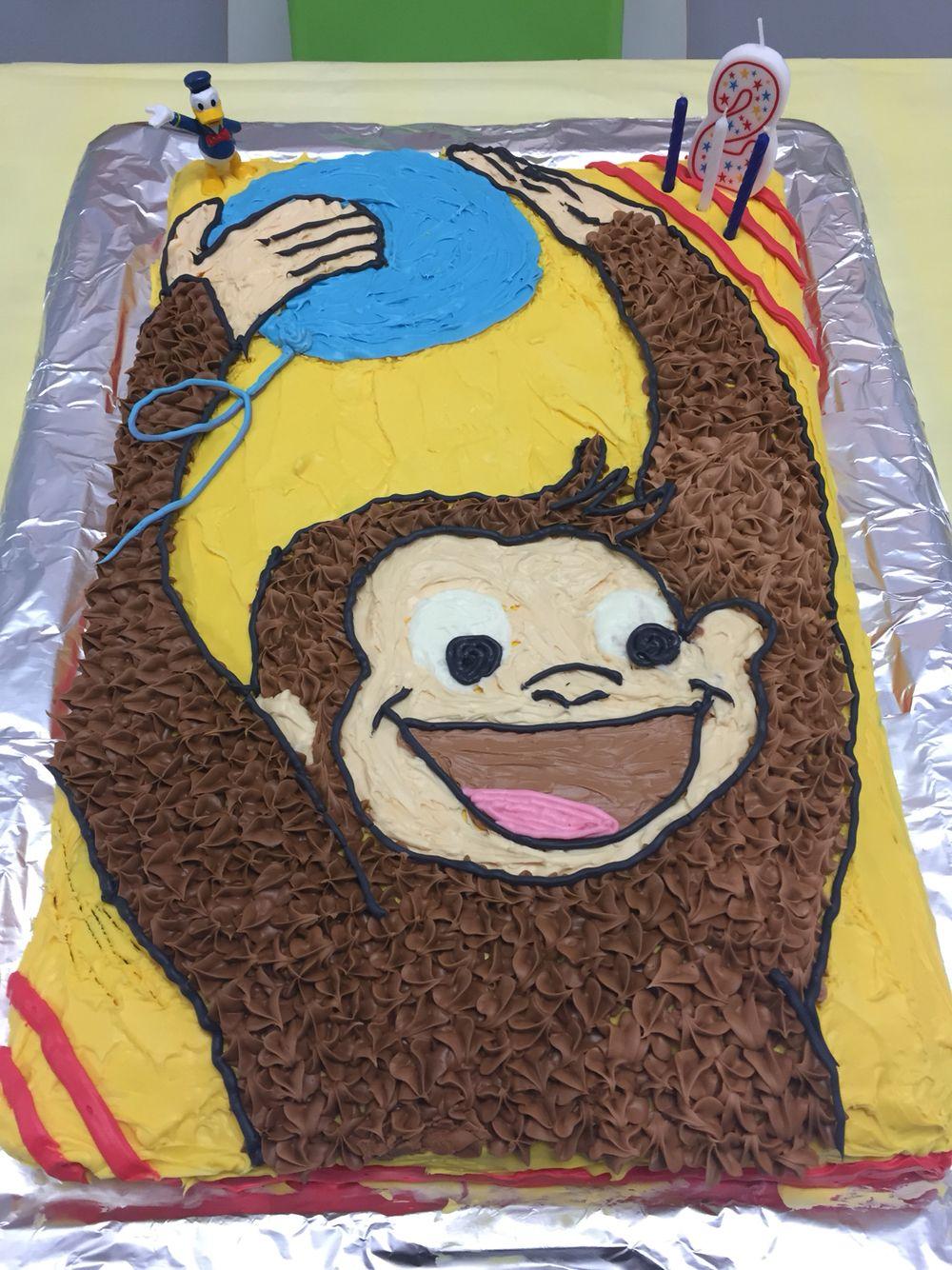 Liara's 2nd Birthday Cake Curious George