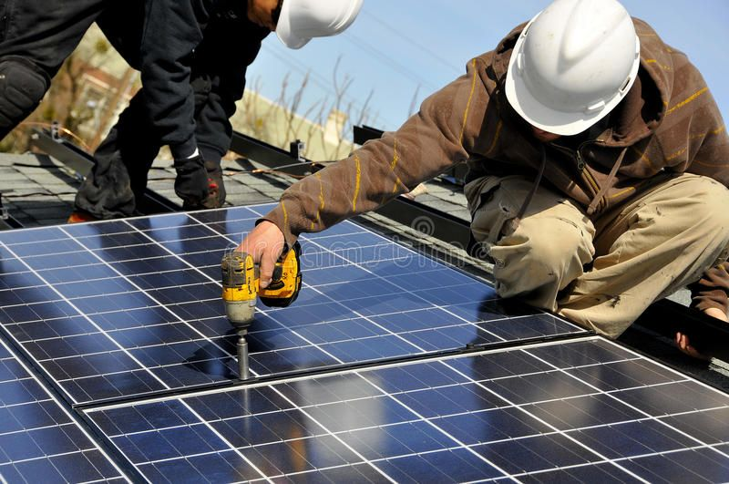 Solar Panel Installers 2 Installing Photovoltaic Solar Panels On Residential Ro Aff Installers Solar Panel I Solar Panels Solar Energy Panels Solar
