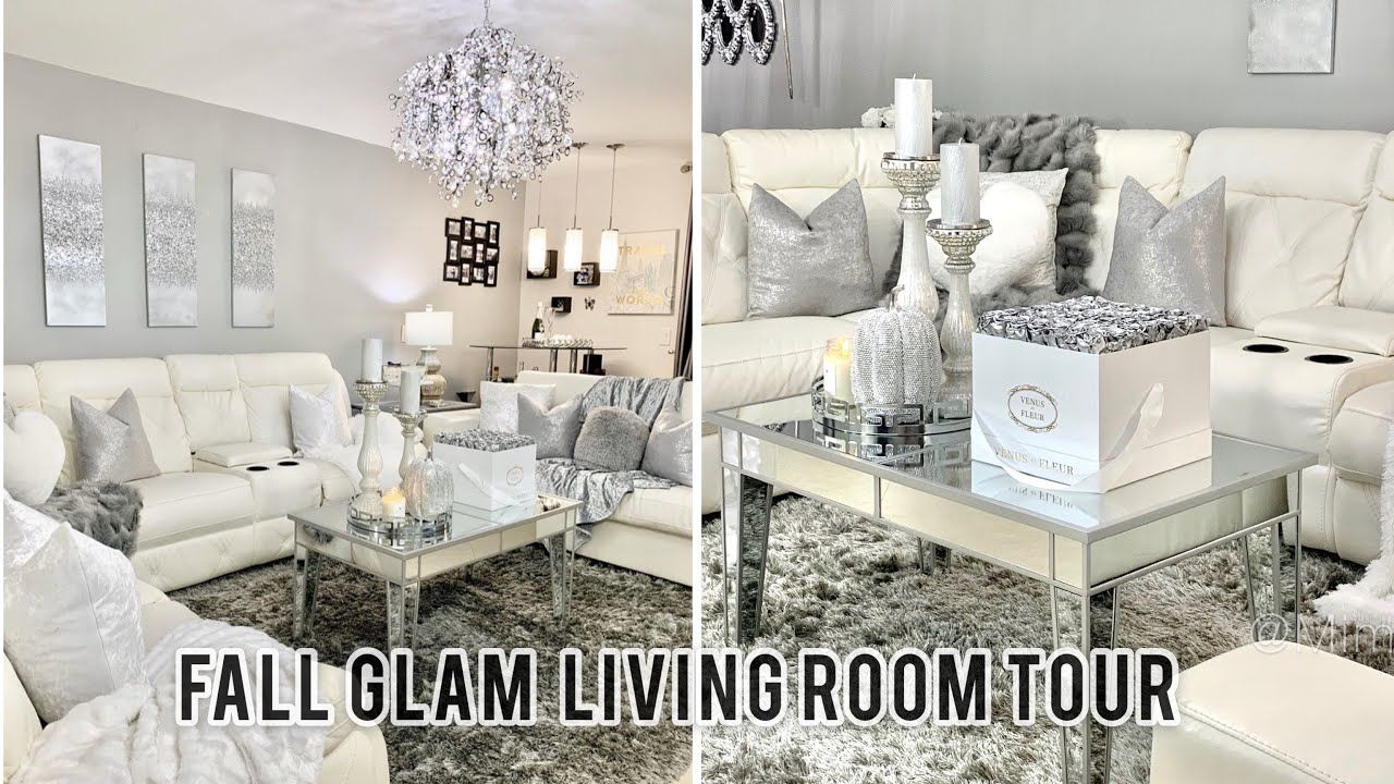 Glam Fall Living Room Tour 2020 Luxe Decorating Ideas Youtub