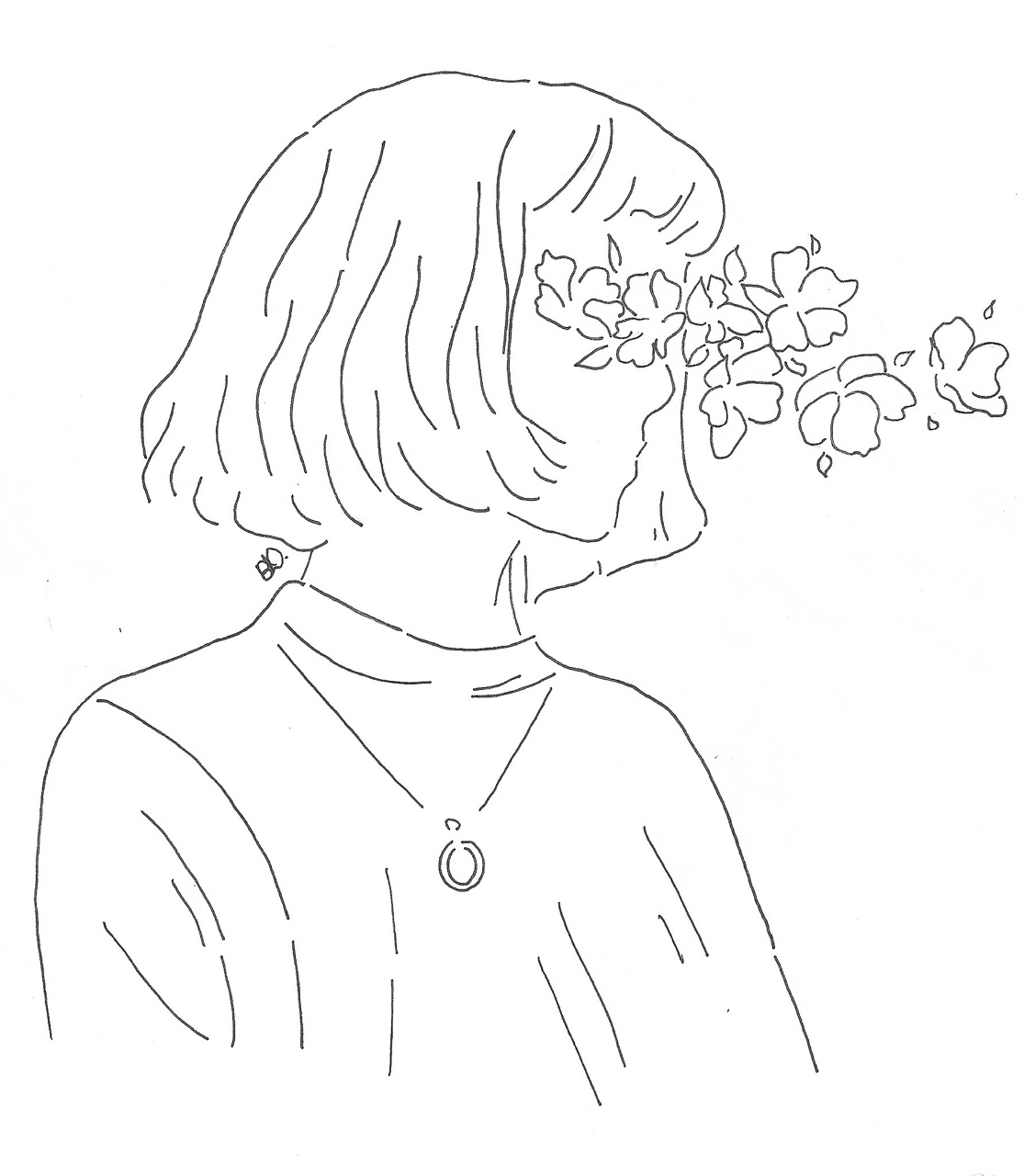 Line Art Flowers Tumblr : Pinterest orionroseart art white pale drawing line