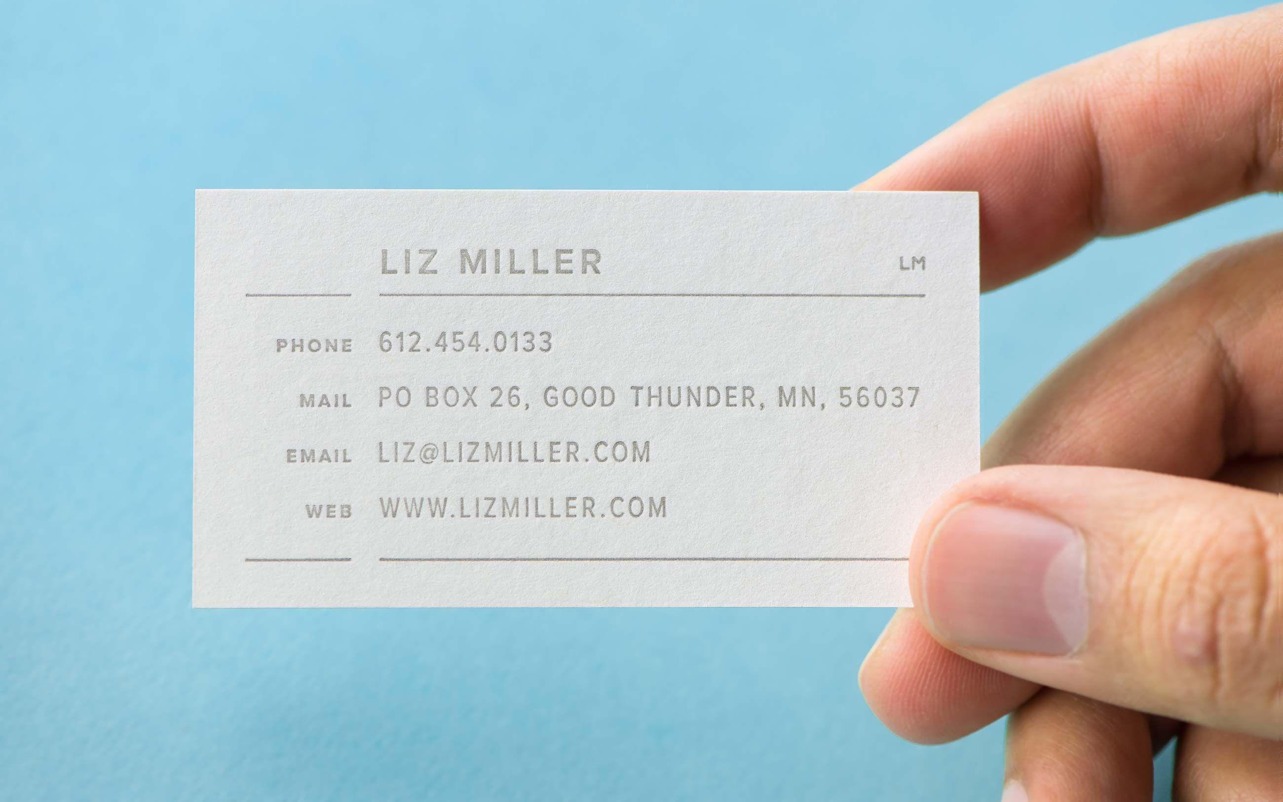 liz miller business card designed by cast iron card pinterest