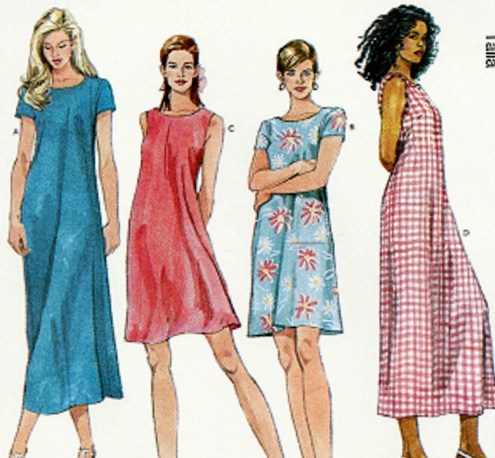 NEW Plus Size 22-26 One Hour Dress Sewing Pattern McCall\'s 6102 ...