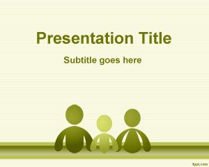 Family Social Sciences Powerpoint Template Is A Free Green