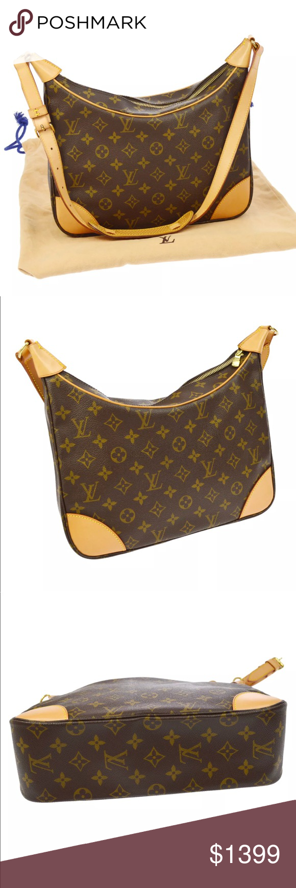 NEW Authentic Louis Vuitton Boulogne 30 Tote This is the discontinued  Boulogne GM! It is made out of the traditional monogram toile canvas and  has a ... 3e37487f8a1fd