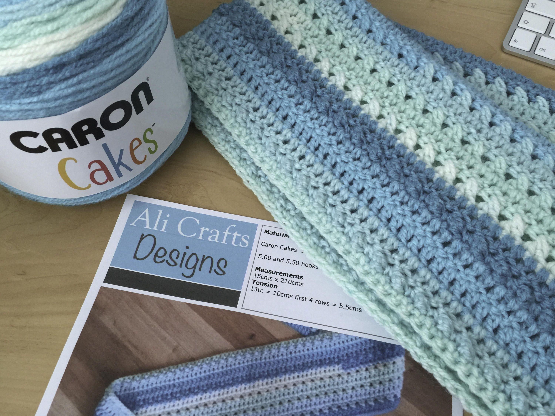 Caron scarf pdf crochet pattern caron cake crochet