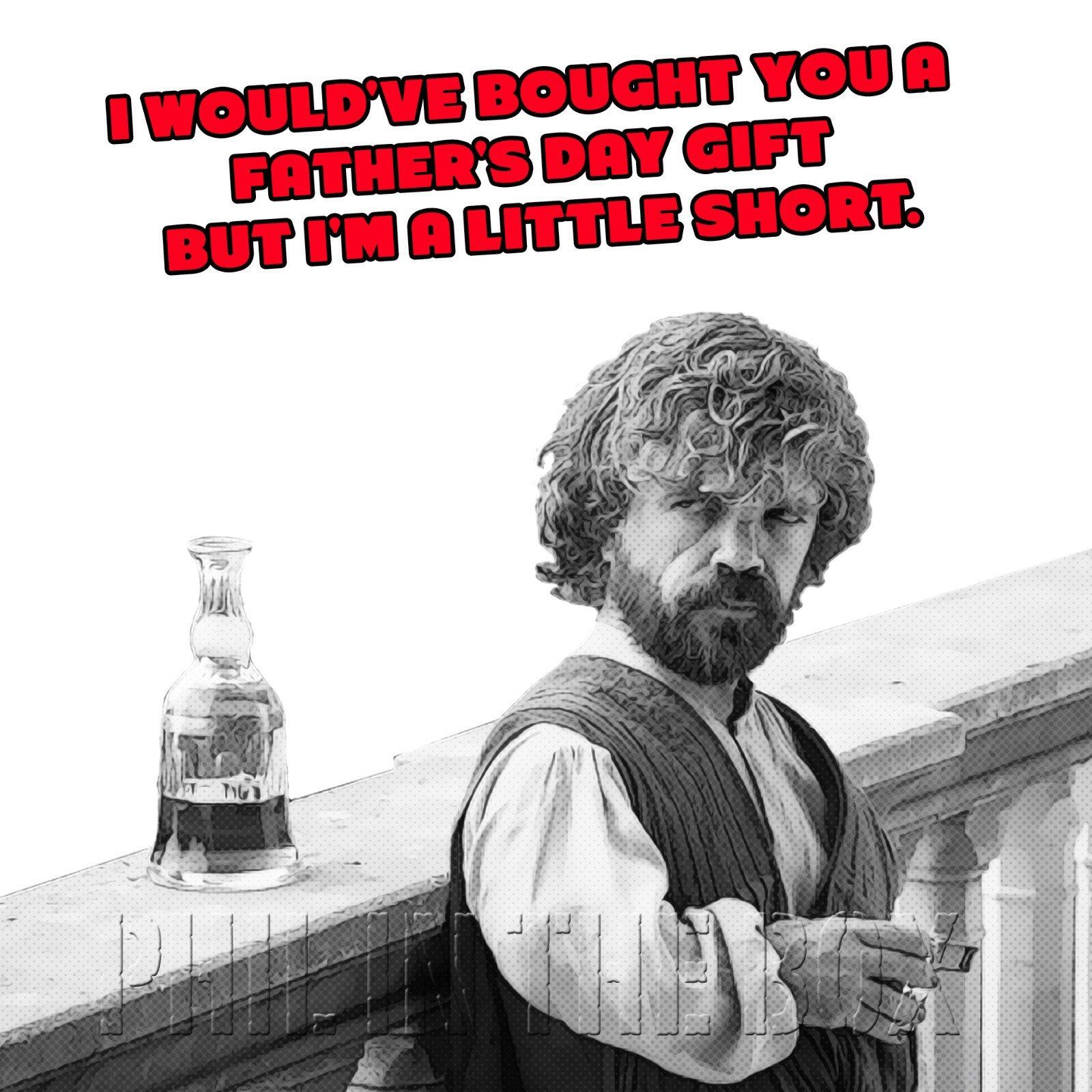 Game of Thrones birthday card Tyrion birthday card Funny
