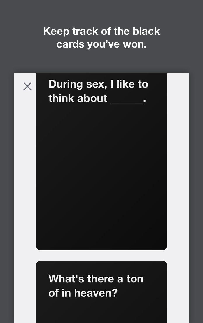 Cards Against Originality, an online app for Cards Against