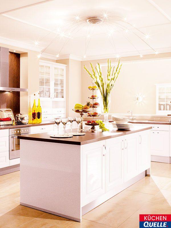 Wie gefällt Ihnen unsere weiße, moderne Küche Wermona 5528 Hochglanz - Küchen Weiß Hochglanz
