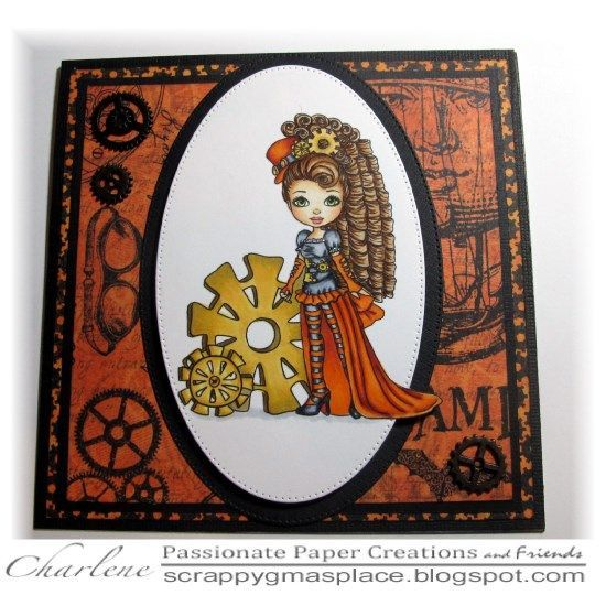 Autumn Rose Cogs and Curls   Passionate Paper Creations   Bloglovin'
