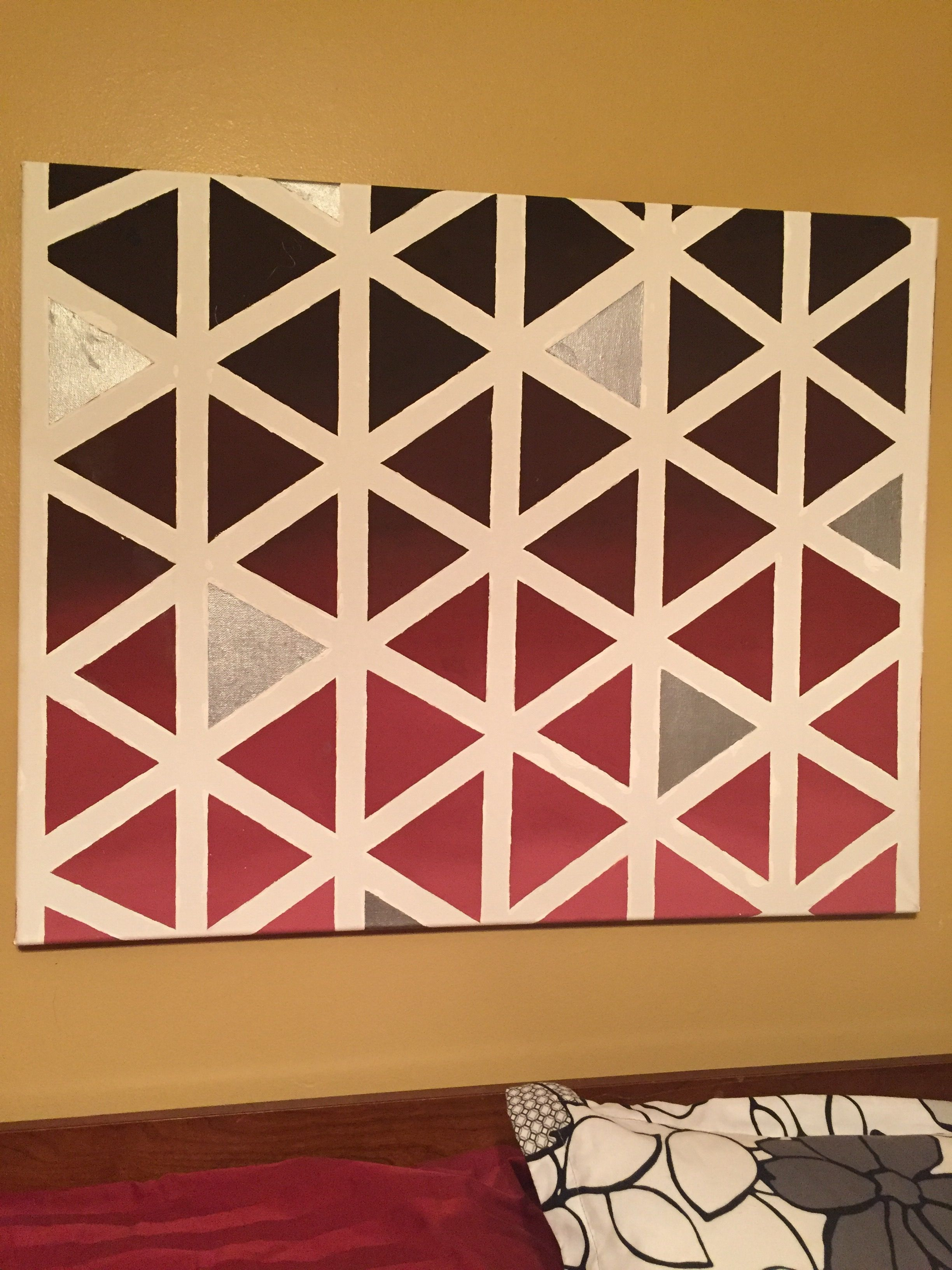 My Sister Made This For Me Geometric Diy Canvas Art Masking