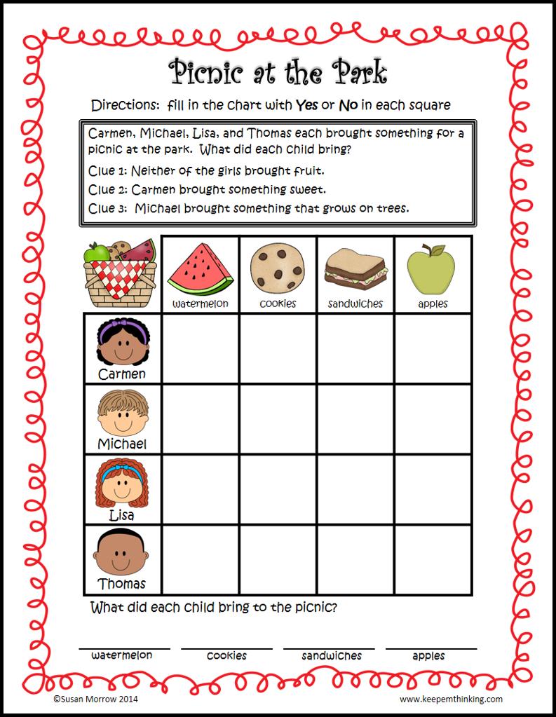 Logic puzzles Gr. 1-3: Beginning Logic Puzzles | Logic puzzles ...