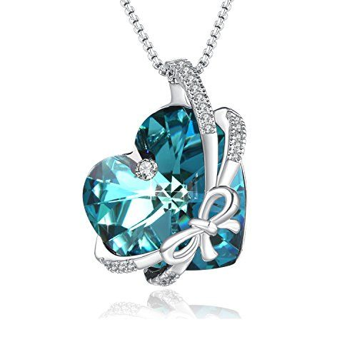 BOWKNOT BOW crystals pendant jewelry silver birthday CHARM Christmas
