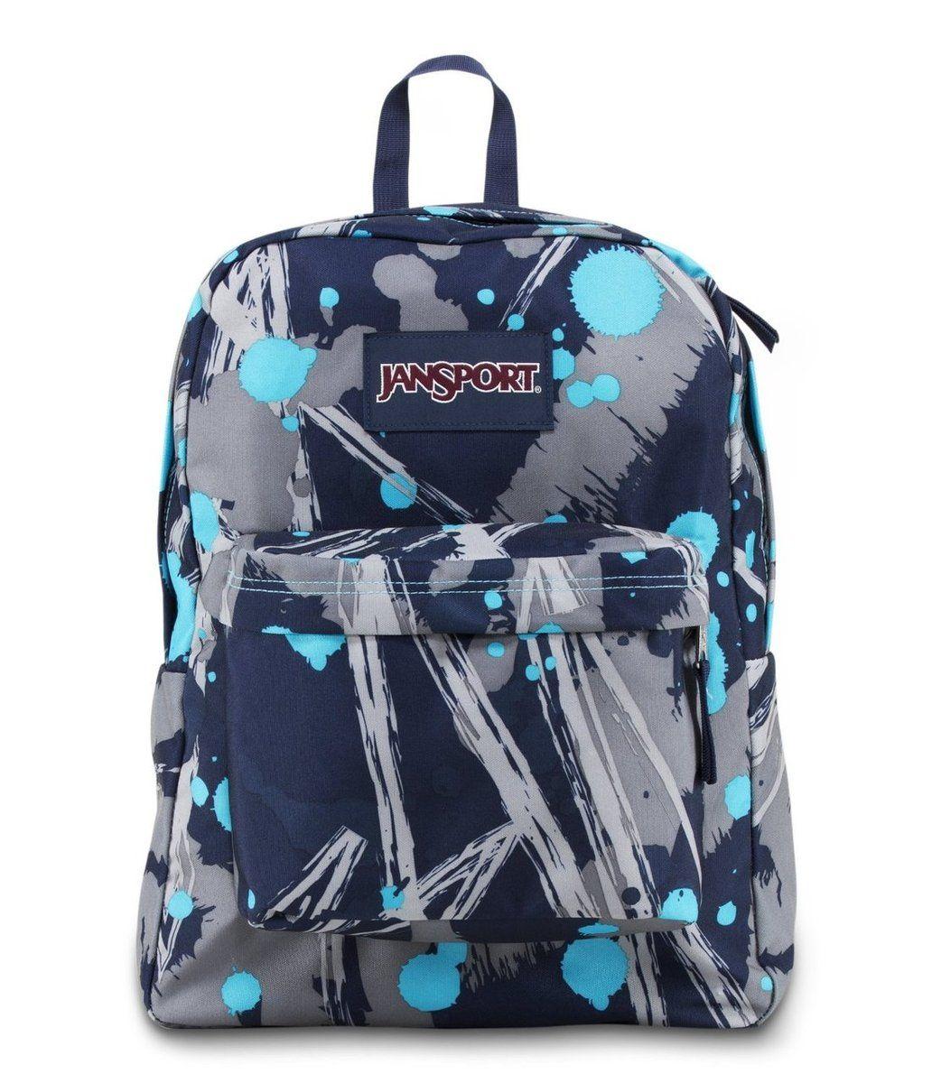 JANSPORT SUPERBREAK BACKPACK SCHOOL BAG - Mammoth Blue Super ...