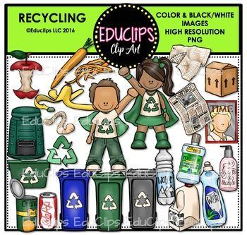 Recycling Clip Art Bundle Educlips Clipart In 2020 Clip Art