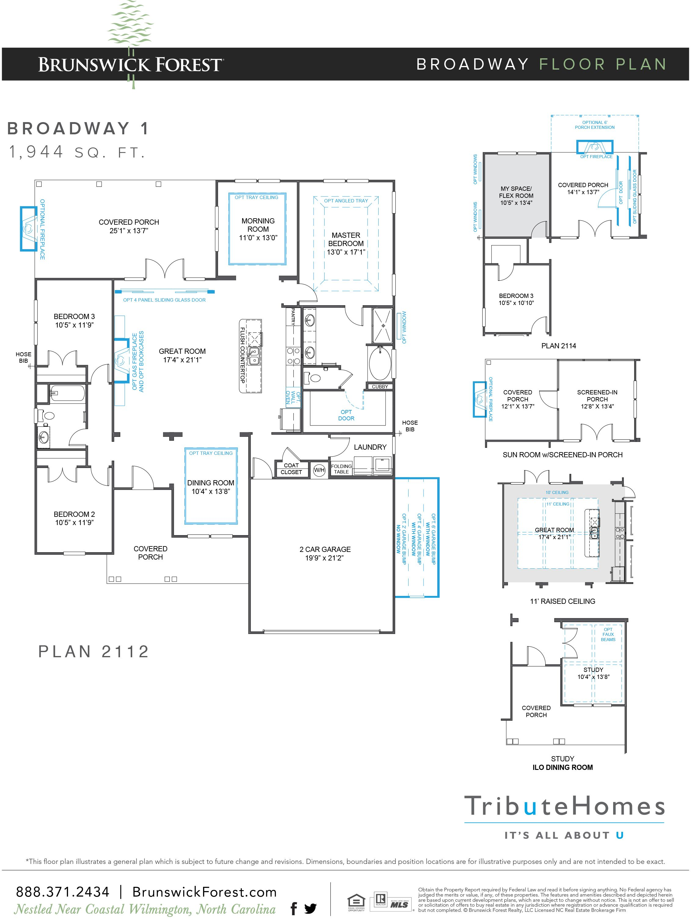 The Broadway At Brunswick Forest Porch Plans Floor Plans How To Plan