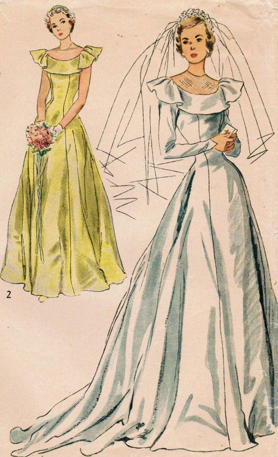 1940s Simplicity 2724 Vintage Sewing Pattern Misses