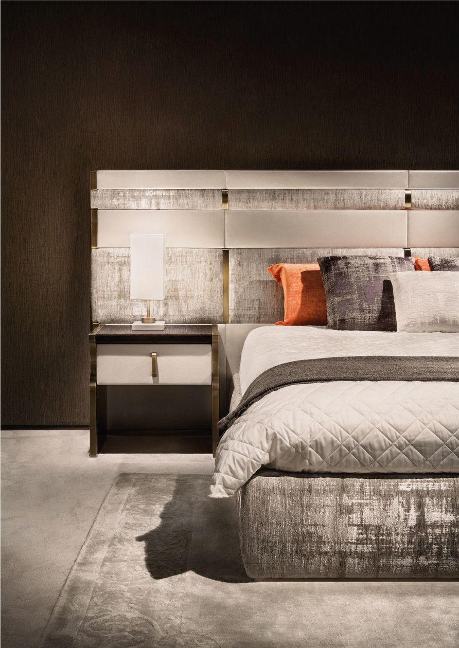 Double bed with upholstered headboard TRILOGY XL Trilogy ...