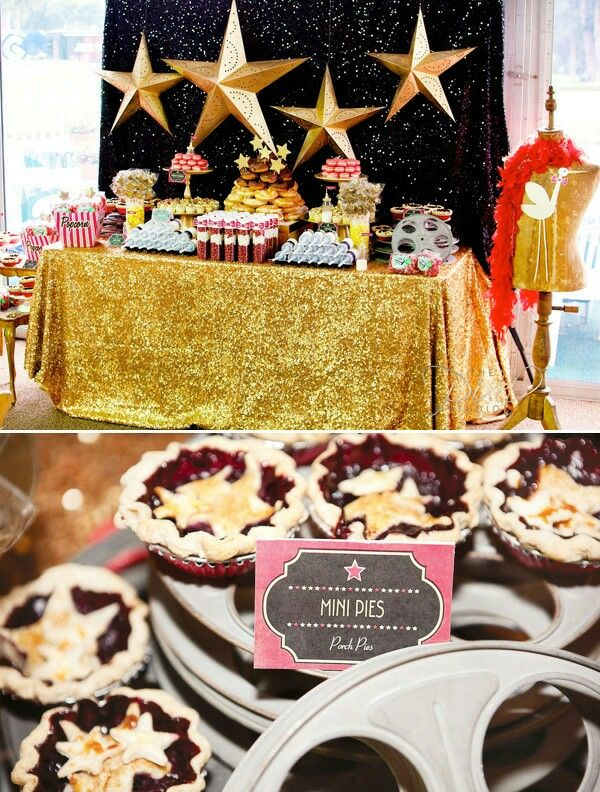 Marvelous Hollywood Baby Shower Theme Part - 13: Mesa De Postres