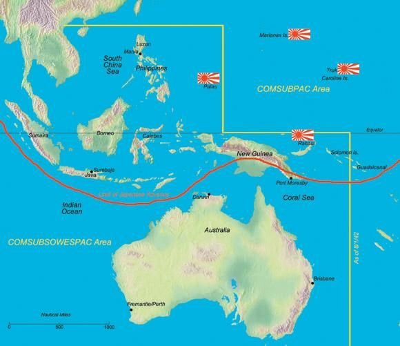 map of American WWII Subs patrols in the Pacific  Google Search