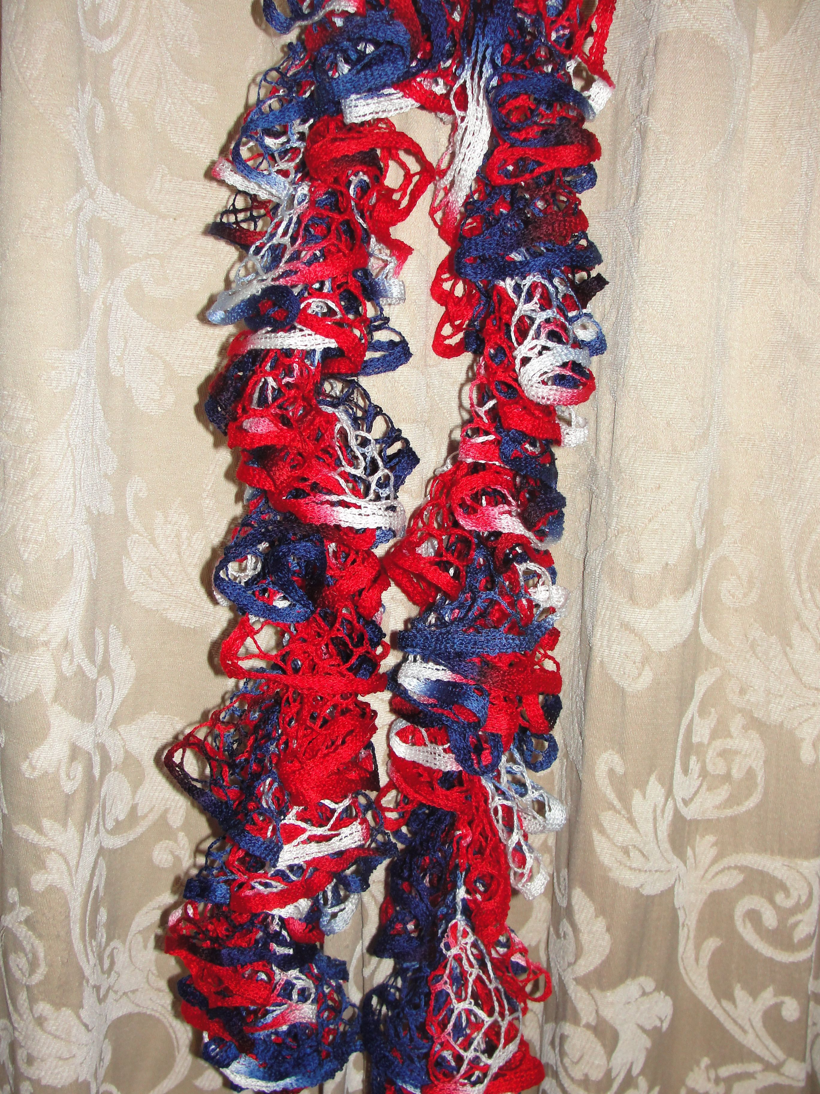 Ruffle scarf starbella yarn america red white blue baby ruffle scarf starbella yarn america red white blue baby dt1010fo