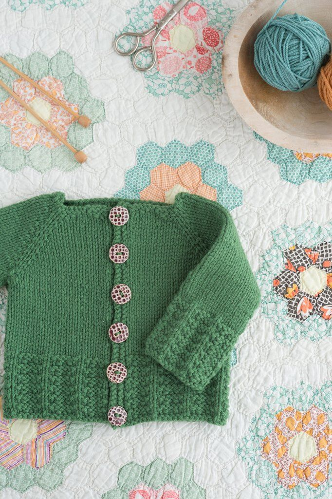 arlo baby cardigan knitting pattern - Quince and Co   Knit kids ...