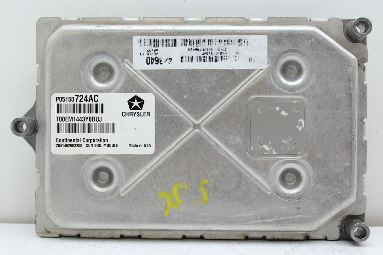 13 Dodge Caravan P05150724ac Computer Brain Engine Control Ecu Ecm Ebx Module Engine Repair Ecu Repair