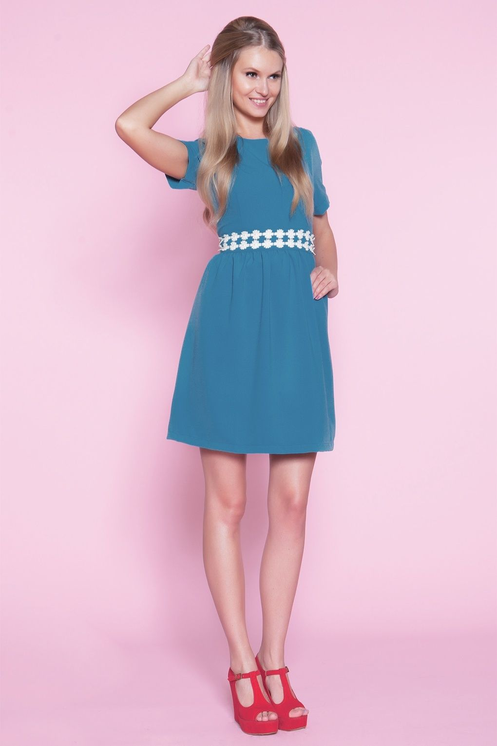 Sweetie s daisy shirt dress in blue s accessories