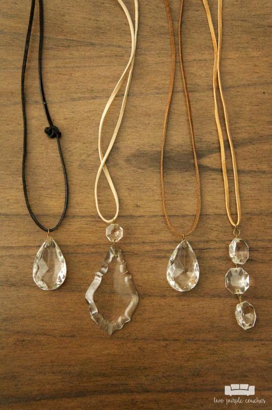 Vintage Chandelier Crystal Necklaces Crystal Necklace Repurpose - Chandelier crystals for crafts